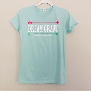 Tops - Dream Graphic Tee Aqua XL